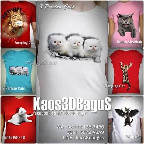 Kaos Komunitas Pecinta Kucing, Kaos KUCING 3D, Kaos British Shorthair Cat, Kaos PERSIAN CAT, Kaos Anak Kucing Lucu, Kaos3D, Kaos 3D Bagus, Kaos 3D Umakuka, Kaos 3D Cat Lover