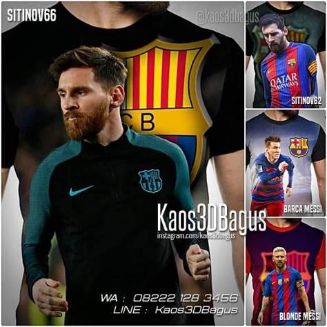 Kaos Lionel Messi, Kaos Barca Fans, Blaugrana, Kaos Barca, Kaos 3D Bola, Kaos Futsal