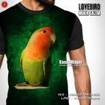 Kaos 3 Dimensi, Kaos Gambar Burung, Kaos3D, Kicau Mania, Kaos Lovebird, Lovebird Mania, Lovebird Josan Ngekek, Lovebird Muka Salem