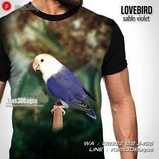 Kaos Lovebird Mania, Kaos Gambar Lovebird, Lovebird Sable