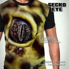 Kaos Gambar GECKO, Gecko Lover, Kaos Reptil Mania Indonesia, Kaos 3D