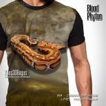 Kaos 3D Gambar Ular, Kaos ULAR SANCA, Kaos Komunitas Ular, Reptil Indonesia