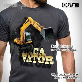 Kaos EXCAVATOR KOMATSU, Kaos Gambar Alat Berat, Kaos TEMA TAMBANG, Mining Tshirt