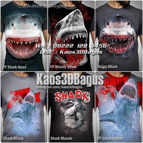 Kaos ANIMAL, Kaos Gambar Binatang, Kaos Anak, Kaos SHARK LOVER, Shark T-shirt