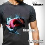 Kaos 3D Gambar Ikan Arwana, Kaos Mancing, Kaos Ikan Arwana Merah, Red Arowana