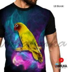 GROSIR KAOS 3D Kaos LOVEBIRD - LB Blorok