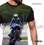 GROSIR KAOS 3D MURAH Standing Rossi - MotoGP