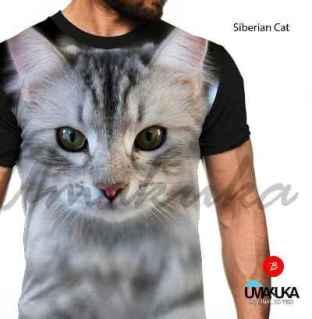 GROSIR KAOS ANIMAL - Siberian Cat - Kucing ANIMAL