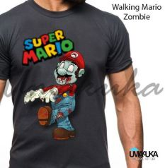 KAOS SUPER MARIO BROS - Grosir Kaos Karakter - Walking Mario Zombie
